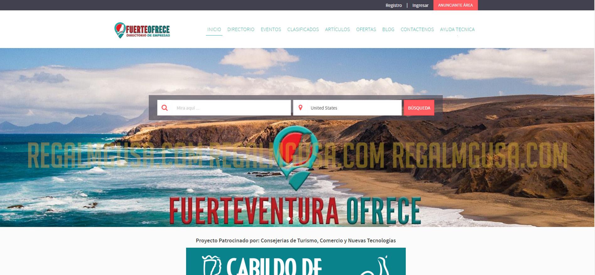 Fuerte Ofrece Regal MG Ecommerce Website Screenshot 002